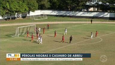 Pérolas Negras se mantém invicto na série B2 do Campeonato Carioca - Partida aconteceu domingo (7), no Estádio do Trabalhador, em Resende.