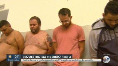 Justiça decreta prisão de 5º suspeito de sequestrar empresário em Ribeirão Preto - Vítima, de 74 anos, ficou em cativeiro por 6 dias e foi libertada após investigação da Polícia Civil.