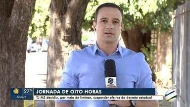 Liminar do TJ suspende jornada de 8 horas para servidores do governo - Jornada entrou em vigor em julho e governo diz que vai recorrer