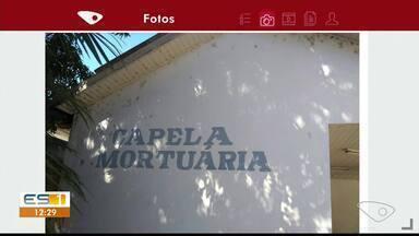 Situação de capela mortuária preocupa moradores de Araçuí, em Castelo, ES - Local tornou-se ponto de usuários de drogas.