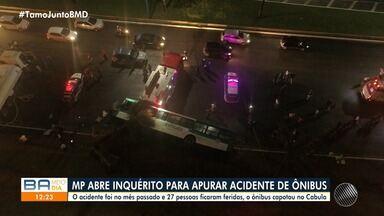 Ministério Público abre inquérito para investigar acidente de ônibus no Cabula - Acidente deixou 27 pessoas feridas no mês passado.
