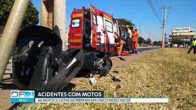 Dois motociclistas ficam feridos em acidentes nesta quarta (10) - Segundo o Detran, 44 motociclistas morreram no primeiro semestre aqui no DF.
