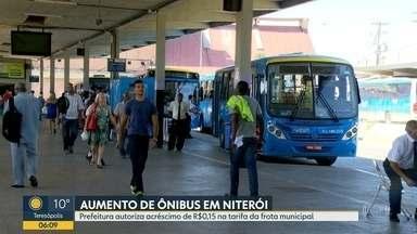 Passagem de ônibus em Niterói aumenta para R$ 4,05 - Valor subiu 15 centavos. Prefeitura autorizou reajuste, que estava previsto em contrato.