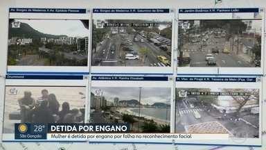 Mulher é detida por engano por erro em reconhecimento facial - Caso aconteceu em Copacabana, com câmeras instaladas nas ruas durante o Carnaval. Mulher foi levada para delegacia e liberada. Polícia diz que sistema ainda é experimental.