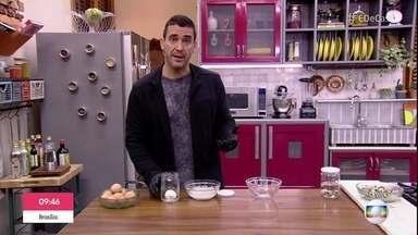 André Marques encara o desafio de tirar a casca do ovo - Confira o 'Testando Mitos'