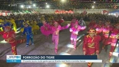 Forrozão do tigre reúne centenas de pessoas com muita diversão - Evento aconteceu na sexta-feira (12).