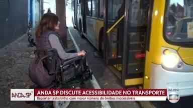 Anda SP circula na linha de ônibus com menos acessibilidade da cidade de São Paulo - Linha vai da Zona Leste ao Parque Dom Pedro II