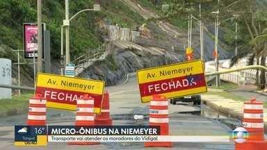 Justiça libera circulação de micro-ônibus na Av. Niemeyer - Via está fechada desde 28 de maio. Decisão é para transporte de moradores do Morro do Vidigal.