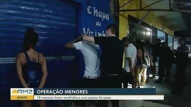 Adolescentes são apreendidos consumindo bebidas alcoólicas em bares do Amapá - Uma pessoa foi presa.