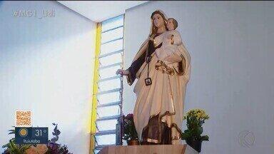 Conheça a história da padroeira de Uberlândia - Veja curiosidades da igreja e de Nossa Senhora do Carmo.