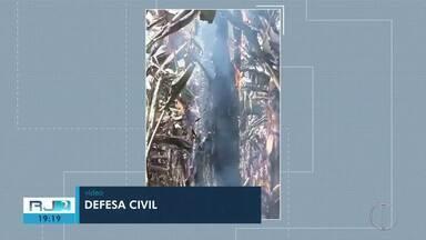 Defesa Civil afirma que ponta de cigarro deu início a incêndio em lavoura de Miracema - 8 mil pés de bananeiras foram queimadas.