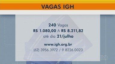 IGH abre inscrições para preencher 240 vagas de trabalho em hospitais da Grande Goiânia - Salários podem chegar a R$ 8,2 mil. Cargos são para o HMI, Huapa e Maternidade Nossa Senhora de Lourdes.