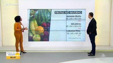 JM no Campo: Conab anuncia redução dos preços de frutas em várias partes do Brasil - Na Ceasa de Simões Filho, a banana prata e a melancia estão mais baratas.