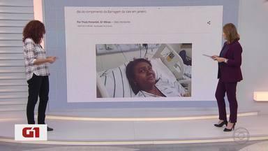 G1 no MG1: única vítima da tragédia de Brumadinho que ainda estava internada recebe alta - Talita Cristina de Oliveira, de 16 anos, passou por quatro cirurgias. Ela estava no hospital desde o dia do rompimento da Barragem da Vale em janeiro.