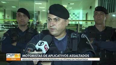 Motoristas de aplicativo foram rendidos por adolescentes em Taguatinga - Eles embarcaram no carro na Avenida Hélio Prates e pediram para ir pra Brazlândia. Armados, os adolescentes ameaçaram o motorista por cerca de quinze minutos.