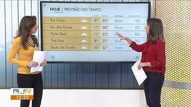 Sexta-feira deve ser de sol, poucas nuvens e vento no Sul do Rio - Não há possibilidade de chuva na região.