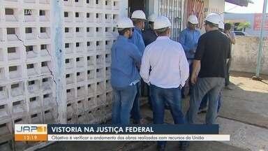 Obras de saneamento básico com recursos federais no AP são alvos de vistoria da Justiça - Ação ocorrida nesta sexta-feira (19) examinou a revitalização da rede de coleta de esgoto sanitário da capital.
