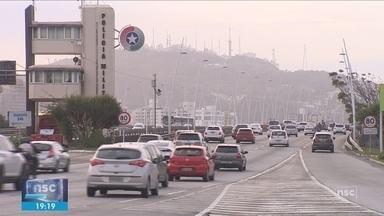 Teste de inversão de pistas das pontes Pedro Ivo e Colombo Salles é adiado na capital - Giro de notícias: Teste de inversão de pistas das pontes Pedro Ivo e Colombo Salles é adiado em Florianópolis