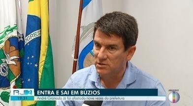 Justiça já determinou nove vezes afastamento de André Granado da Prefeitura de Búzios - Atualmente, o vice da chapa eleita em 2016, Henrique Gomes, é o prefeito do município.