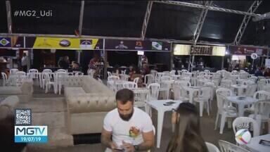 Festival Cultural e Gastronômico é realizado em Patrocínio - Prefeitura montou uma grande estrutura para a realização do evento.