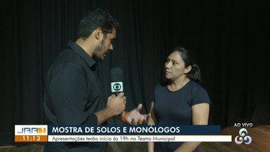 Espetáculo 'Solos e monólogos' chega ao Teatro Municipal de Boa Vista - Evento começa às 19h deste sábado (20).