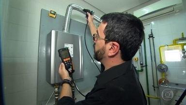 Morte de família por vazamento de gás traz à tona alerta - Com uma câmera especial, a gente mostra como o monóxido de carbono se espalha pelos ambientes, podendo ser fatal.