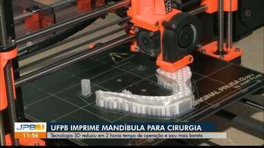 UFPB, em João Pessoa, usa tecnologia 3D para fazer impressões mais acessíveis - Tecnologia reduz até tempo de cirurgia.