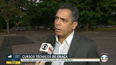 Senai abre quase mil vagas para cursos técnicos em todo o Estado do Rio - Cursos são gratuitos mas os candidatos devem ter renda familiar per capita de 1,5 salário mínimo.