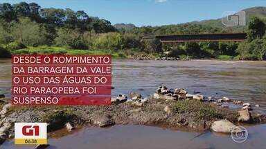 G1 no BDMG: Seis meses após tragédia, uso da água do Paraopeba segue sem previsão - O impacto ambiental ainda é analisado pelas autoridades. A barragem da Vale se rompeu no dia 25 de janeiro deste ano, deixando mais de 240 pessoas mortas.