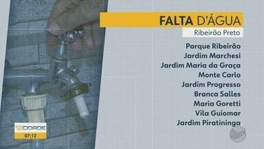 Manutenção na rede elétrica afeta serviço de água em Ribeirão Preto - Bairros da zona Oeste devem ficar sem abastecimento até 18h.