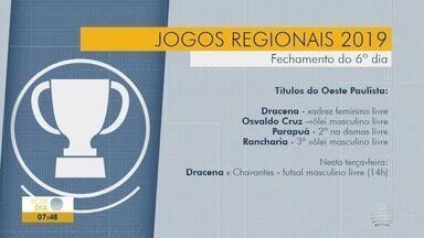 Confira o desempenho do Oeste Paulista nos Jogos Regionais - Atletas de 20 cidades competiram em 11 modalidades
