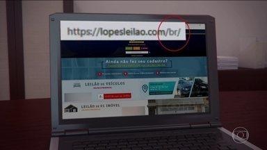 Site falso de leilão de carros está fazendo vítimas pelo Brasil - Interessados fazem o pagamento antecipado mas, quando vão buscar o carro, descobrem que o veículo e a empresa de leilão não existem.