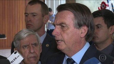 Presidente Jair Bolsonaro volta a criticar o Inpe - Bolsonaro disse que quer ter acesso aos dados sobre desmatamento na Amazônia antes da divulgação, para não ser surpreendido.
