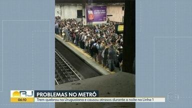 Quebra de composição do Metrô causa atrasos e deixa estações superlotadas - Trem quebrou na Uruguaiana e reflexos foram sentidos em diversas estacoes.