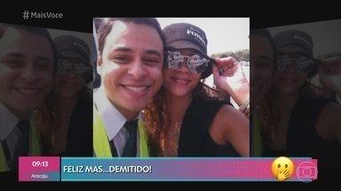 Rafael foi demitido por tietar Rihanna - Ele trabalhava para uma companhia aérea há cerca de dois anos e diz que não se arrepende por ter postado foto com a cantora