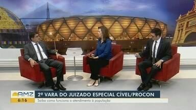 Saiba como funciona o atendimento a população no juizado especial - Luis Márcio Nascimento Albuquerque, titular da 2ª Vara do Juizado Cível, comenta.