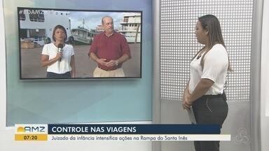 Comissariado da Infância e Juventude fiscaliza viagens de menores em embarcações no Amapá - Juizado da Infância e Conselho Tutelar acompanham embarque de menores.