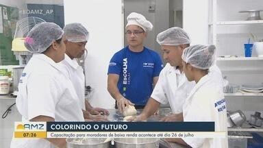 Moradores da Baixada Pará, em Macapá, são capacitados através de projeto social - Projeto Colorindo o Futuro quer proporcionar às pessoas da comunidade a oportunidade de se qualificarem para mercado de trabalho.