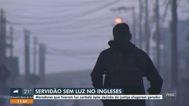 Famílias do Norte de Florianópolis continuam sem energia elétrica - Famílias do Norte de Florianópolis continuam sem energia elétrica