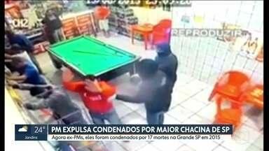 PM expulsa agentes condenados por maior chacina de São Paulo - Eles foram condenados por 17 mortes na Grande SP em 2015.