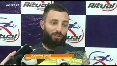 """Guilherme Garré comemora fim da """"seca"""" no Clube do Remo - Contra o Ypiranga, meia marcou o primeiro gol dele com a camisa do Leão"""