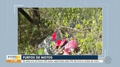 Motocicletas são alvos dos ladrões em Corumbá - Só esse ano 30 motos foram furtadas ou roubadas na cidade.