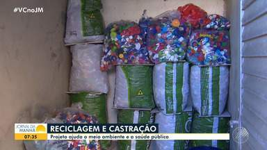 Administradora cria projeto que ajuda animais de rua e preserva o meio ambiente - O dinheiro arrecadado com a venda de tampinhas de plástico é usado para castração canina.