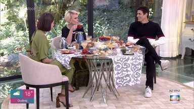 Ana Maria toma café da manhã com Reynaldo Gianecchini e Agatha Moreira - Atores falam sobre o planos de Régis e Josiane em 'A Dona do Pedaço'