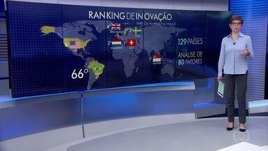 Brasil recua no ranking da inovação - País cai para o 66º lugar, segundo ranking da Organização Mundial de Propriedade Intelectual.
