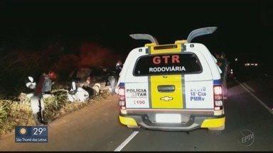 Acidente entre carro e vaca deixa um morto e quatro feridos na BR-146 - Acidente entre carro e vaca deixa um morto e quatro feridos na BR-146