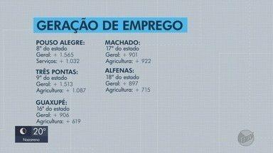 Cinco cidades do Sul de Minas estão entre as 20 que mais criaram empregos em 2019 em MG - Cinco cidades do Sul de Minas estão entre as 20 que mais criaram empregos em 2019 em MG