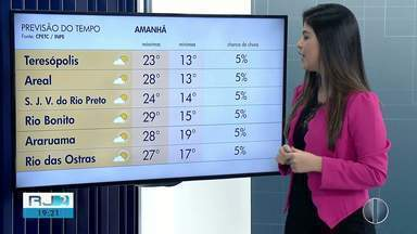 Confira a previsão do tempo para as regiões dos Lagos e Serrana do Rio - Veja as temperaturas para esta sexta-feira (26).