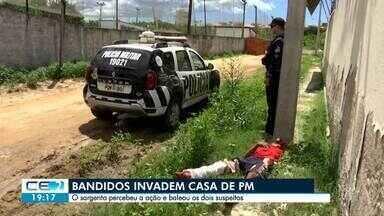 Bandidos tentam assaltar casa de policial e acabam baleados - Confira mais notícias em g1.globo.com/ce