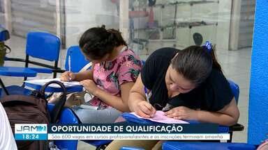 Inscrições para 600 vagas em cursos profissionalizantes encerram nesta sexta-feira (26) - Oportunidades estão divididas em quatro áreas.